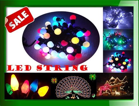 outdoor christmas strobe lights led ball light rgb string indoor outdoor decorative string