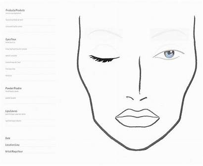 Makeup Face Charts Blank Mac Chart Template
