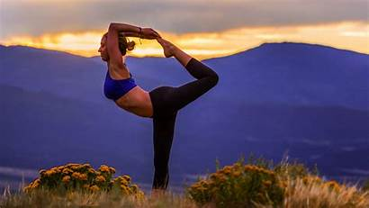 Yoga Nature Pose Landscape Wallpapers Sport Dog