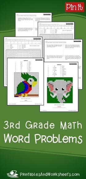 grade math word problems printables worksheets