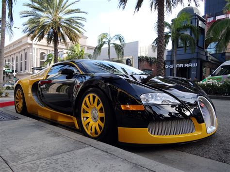 Custom Yellow & Black Bugatti