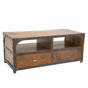 Meuble Tv Bois Et Fer : meuble bois fer forge 35394 ~ Teatrodelosmanantiales.com Idées de Décoration