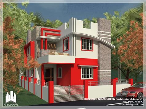 Contemporary Style House Design At 1375 Sq.ft