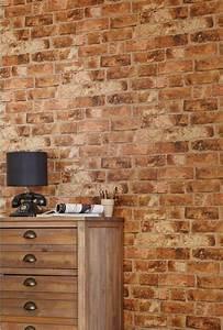 A Little Fakery - Brick Effect Wallpaper Dear Designer