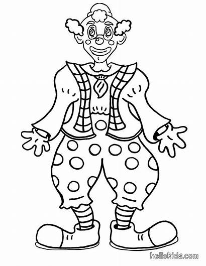 Clown Coloring Pages Circus Printable Face Clowns