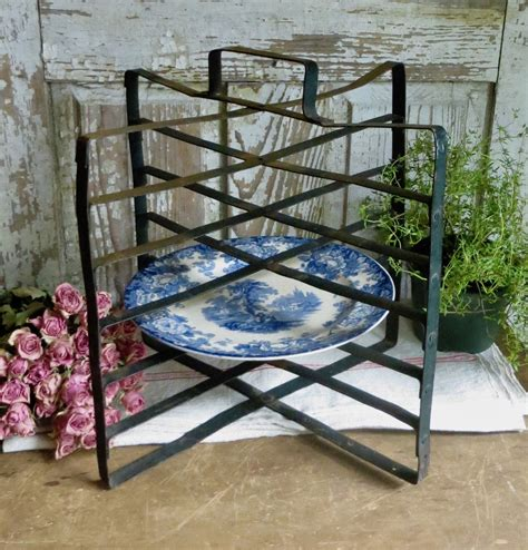 french antique cooling rack metal bakery pie stand rustic farmhouse kitchen folding pastry