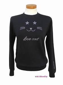 Pullover Mit Katze : sweatshirt katze edel strass glamcity shop ~ Frokenaadalensverden.com Haus und Dekorationen