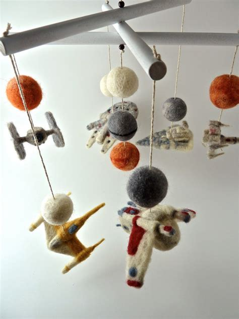 felted star wars baby mobile
