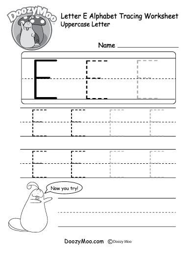 uppercase letter  tracing worksheet  images