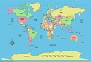World map redrawn to reflect population and not country ...