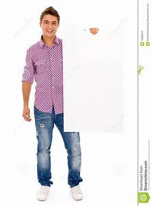 Man Holding Blank Poster Stock Photography - Image: 16608472