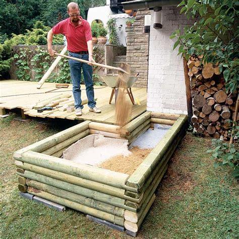 hochteich selber bauen teichbecken aus holz teich anlegen selbst de