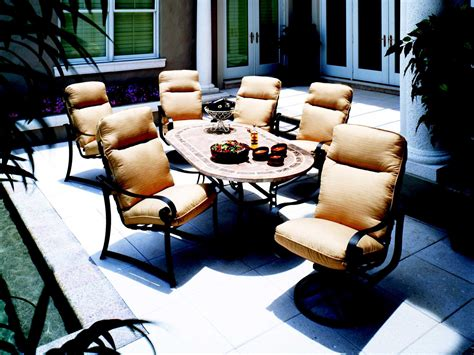 suncoast orleans cushion cast aluminum dining set orlcds