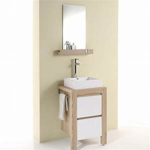 Meuble Salle De Bain Bois Blanc : meuble salle de bain en bois leroy merlin 10 meuble ~ Teatrodelosmanantiales.com Idées de Décoration