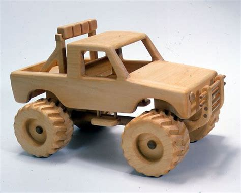 wooden cars monster  toy truck plan woodworking pinterest wooden toy plans wood toys