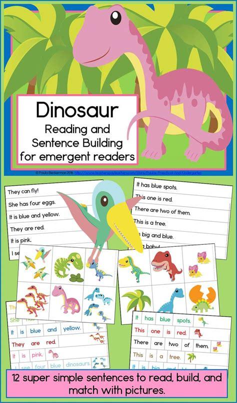 dinosaur reading  sentence building early literacy