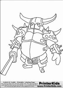 Clash Of Clans - P.E.K.K.A #1 - Coloring Page | barbarian ...