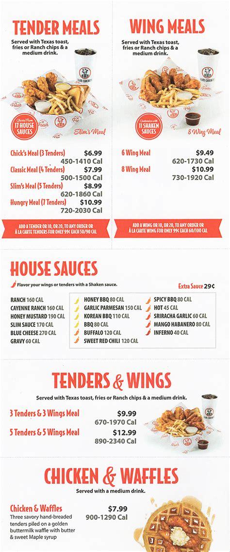 slim chickens delivery menu  prices lincoln ne