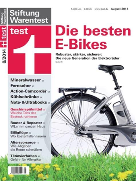 e bike stiftung warentest e bike test 2014 stiftung warentest mit zweifelhaften