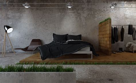 pouf de chambre homes that use a concrete finish to achieve beautiful results