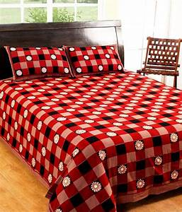 100 cotton printed bed sheet with 2 pillow covers