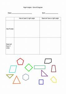 Right Angles - Iwb  U0026 Carroll Diagram Worksheet By