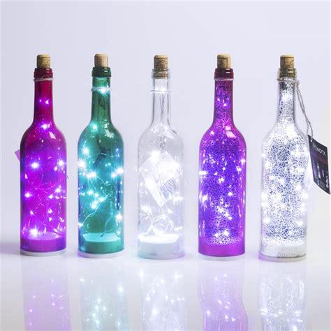 wine bottle led lights lytworx 15 led wine bottle light battery operated