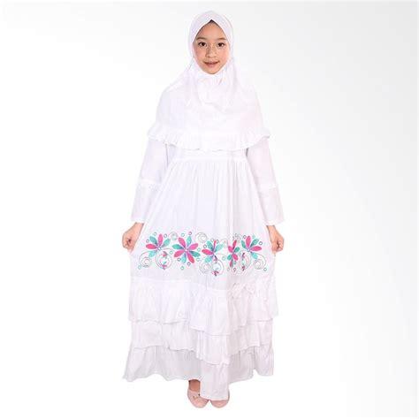 Jual Fayrany Fgp008b Busana Muslim Gamis Anak Putih