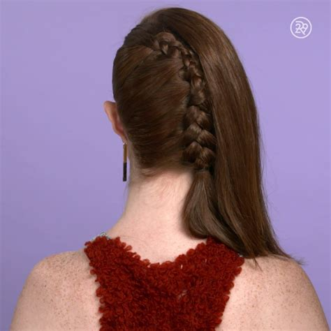 a one sided french braid video braided hairstyles