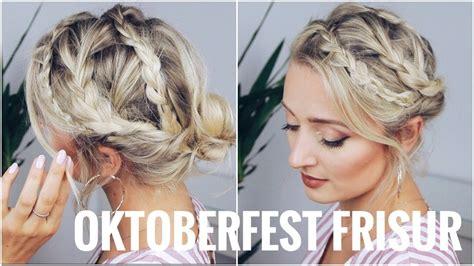 wiesn frisuren lange haare oktoberfest frisur sehr leicht f 252 r kurze und lange haare olesjaswelt