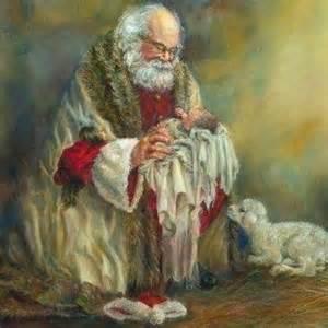 santa and baby jesus christmas santas 3 pinterest