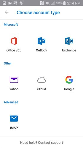 Office 365 Mail In Android by Setup Outlook App On Android Of Southern Indiana