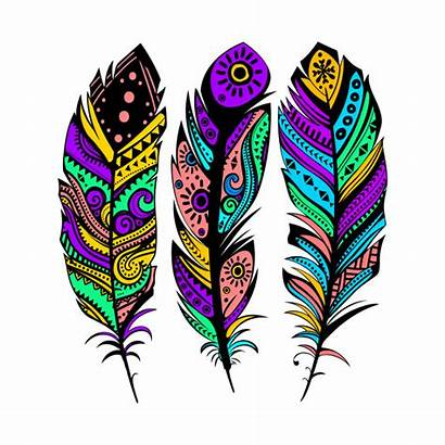 Tribal Feathers Colorful Illustration Indian Designs Shirt