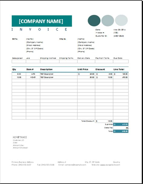 sales invoice template  excel excel invoice templates