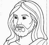Jesus sketch template