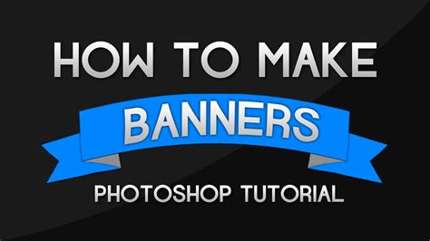 photoshop tutorial    banners  ribbons youtube