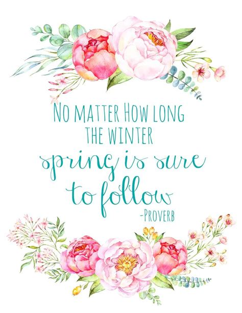Free Printable Spring Quote