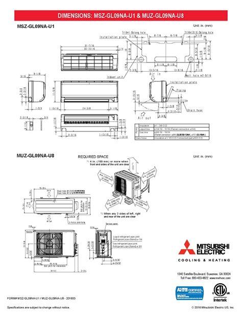mini split  btu mitsubishi  seer heat pump system muzglnau mszglnau