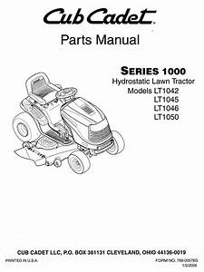 Cub Cadet Lt1045 Parts Manual Diagrams