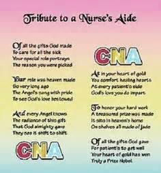 CNA poem. This ... Nursing Assistant Week Quotes