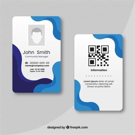 premium vector id card template
