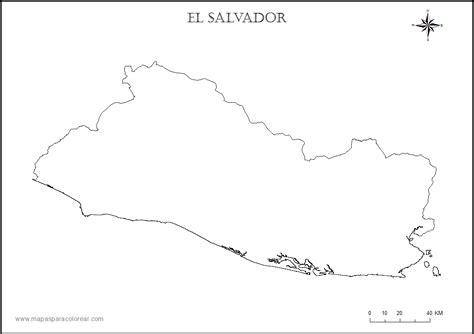 Free Coloring Pages Of El Salvador Map