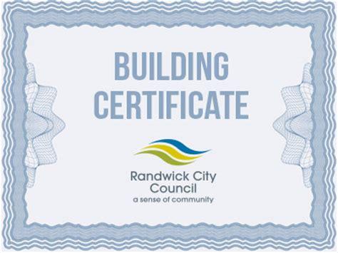 building information certificates randwick city council
