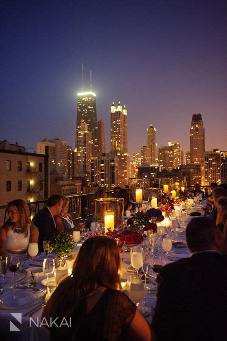 perfect rooftop rehearsal dinner  chicago