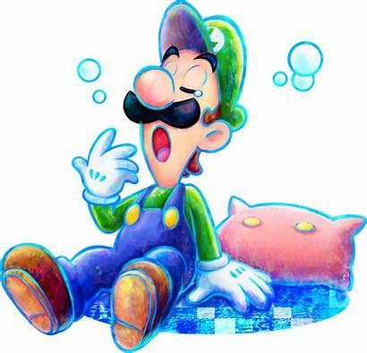 Luigi Mario Dream Team Bros Artwork Sleepy