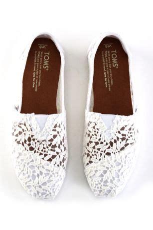 toms lace leaves classic slip  shoes davids bridal