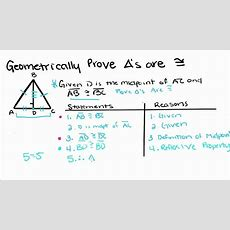 Geometry  4  Proving Triangles Congruent Youtube