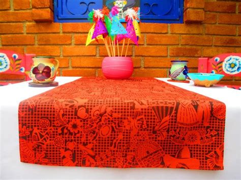 Day Of The Dead Runner Table Cloth Table By