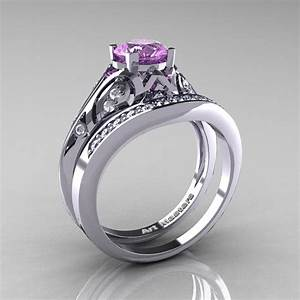 Classic Armenian 14K White Gold 10 Ct Lilac Amethyst