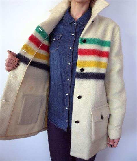 hudson bay blanket jacket vintage hudson bay wool stripe shirt jacket point blanket coat
